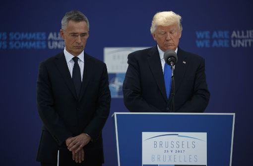 Trump liest Nato-Partnern die Leviten
