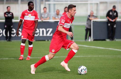 Christian Gentner brachte den VfB im test in Führung. Foto: Pressefoto Baumann