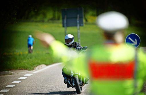 Beamte nehmen Biker ins Visier