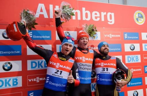 Drei Deutsche auf dem Treppchen