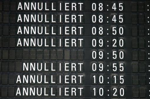 Zahlreiche Flugausfälle in Stuttgart