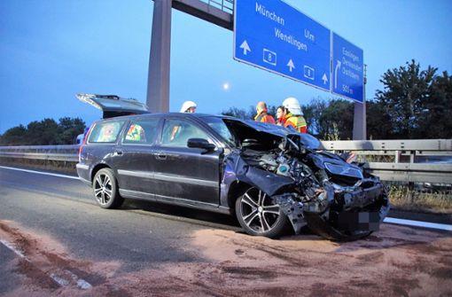 Sowohl der Fahrer des Unfallwagens... Foto: SDMG
