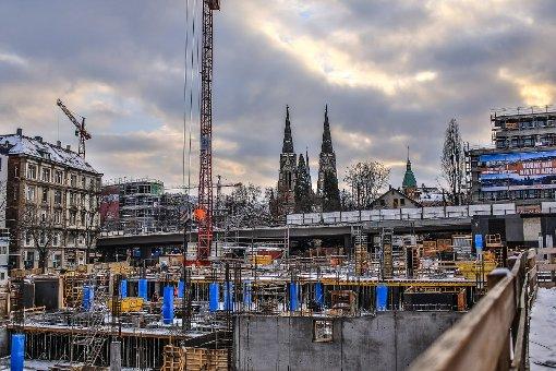 Stuttgart verändert sich: Bilder von der Gerber-Baustelle im Januar. Foto: www.7aktuell.de   Florian Gerlach