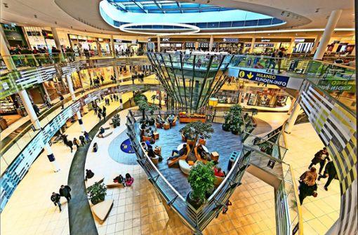 Ein Blick ins größte Einkaufszentrum im Südwesten – das Milaneo in Stuttgart. Foto: Wilhelm Mierendorf