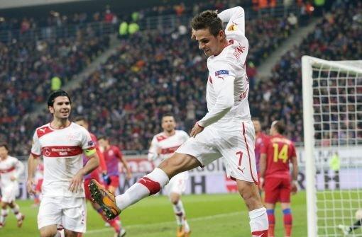 Allen Grund zum Jubeln hatten die VfB-Profis ... Foto: Pressefoto Baumann