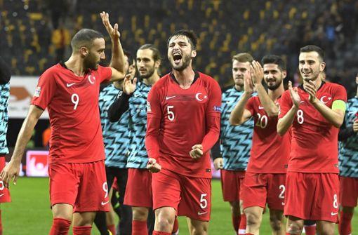 Die türkische Elf kann gegen Schweden das Spiel in der Schlussphase drehen. Foto: TT NEWS AGENCY