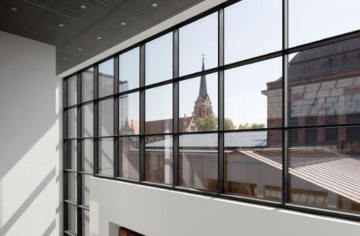 Blick aus dem Neubau auf den Jugendstilbau Foto: Kunsthalle Mannheim/Marcus Bredt