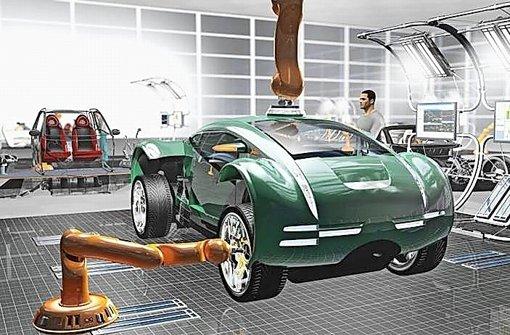So könnte die Autoproduktion der Zukunft aussehen Foto: Storz