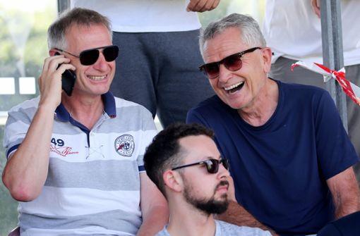 Michael Reschke (links) und Wolfgang Dietrich haben zurzeit gut Lachen. Foto: Baumann