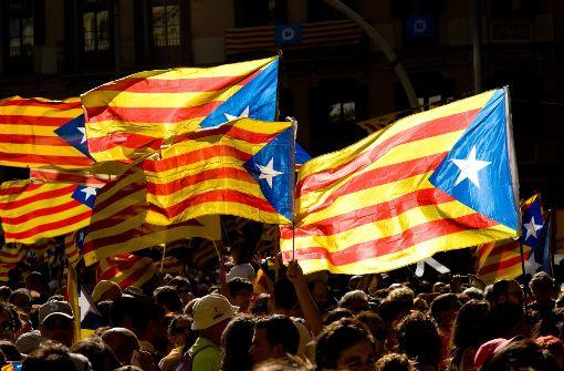 Erst am Montag waren in Barcelona Hunderttausende auf die Straßen gegangen, um die Unabhängigkeit der Region zu fordern. Foto: dpa