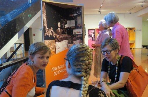 Die Heuss-Wanderausstellung ist noch bis 20. Juli im Rathaus zu sehen. Foto: Sybille Neth