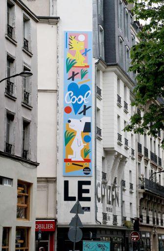 Ein weitere Großdarstellung der Peanuts-Helden soll ab Montag in New-York gezeigt werden - und auch in Berlin soll Snoopy eine Häuserwand erklimmen. Foto: AFP