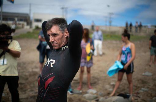 Lecomte startete seinen Rekordversuch am Dienstag an der Küste von Choshi. Foto: AFP