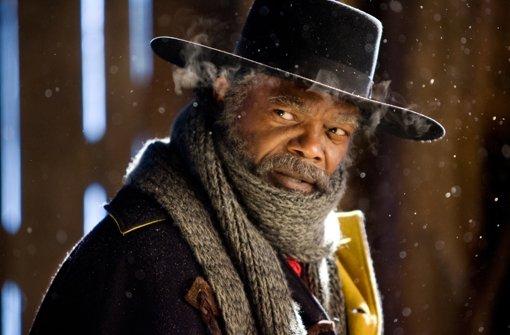 """Samuel L. Jackson zählt zum Staraufgebot, das sich in """"The Hateful 8"""" vor der Kamera versammelt. Foto: The Weinstein Company"""