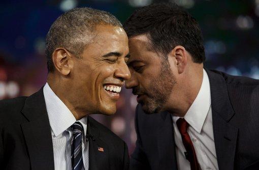 US-Präsident liest in Talkshow gemeine Tweets vor