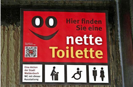 Seit 2013 gibt es in Waldenbuch das Angebot der netten Toilette. Foto: Claudia Barner