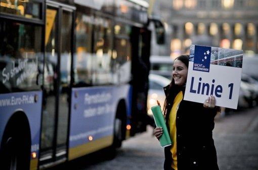 So war's 2012 – Abfahrt zum möglicherweise ersten Job war am Schlossplatz Foto: Leif Piechowski