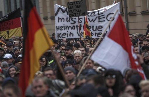 Tausende fremdenfeindliche Demonstranten sind am Samstag durch Berlin marschiert. Foto: Getty Images Europe