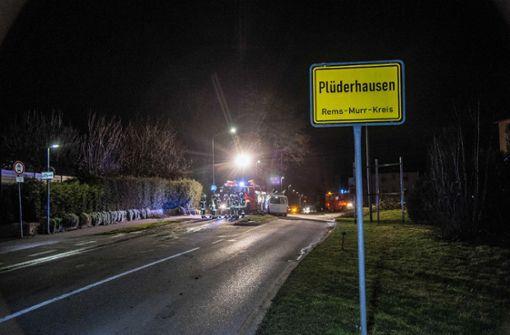 Der Unfall ereignete sich am Ortsbeginn in Plüderhausen.  Foto: SDMG