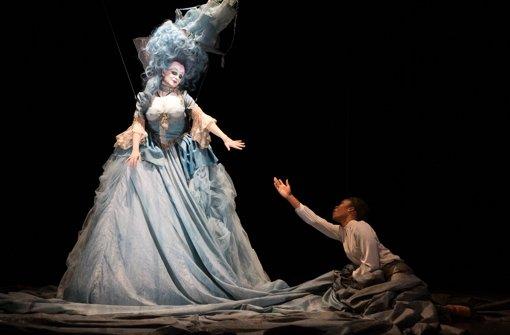 Rinnat Moriah als Meeresgöttin, Jeanine de Bique als Climene. Foto: Annemone Taake