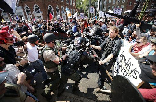 Mehrere Menschen wurden bei Auseinandersetzungen bei einer Demonstration in Charlottesville verletzt. Foto: GETTY IMAGES NORTH AMERICA