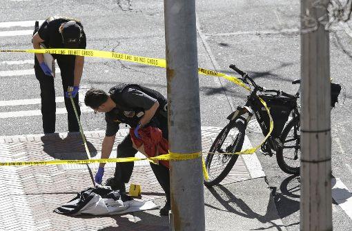 Der Verdächtige wurde bei dem Schusswechsel schwer verletzt Foto: AP