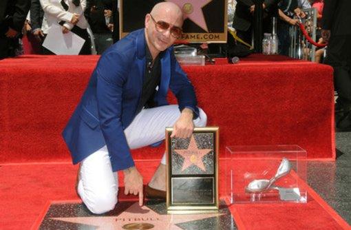 Pitbull erhält Stern auf Walk of Fame