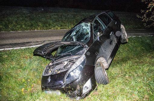 Auto landet in Straßengraben