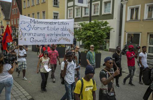 Nachdem die Lage in der Flüchtlingsunkerkunft eskalierte, jetzt ein Versuch der Annäherung. Foto: 7aktuell.de/Simon Adomat