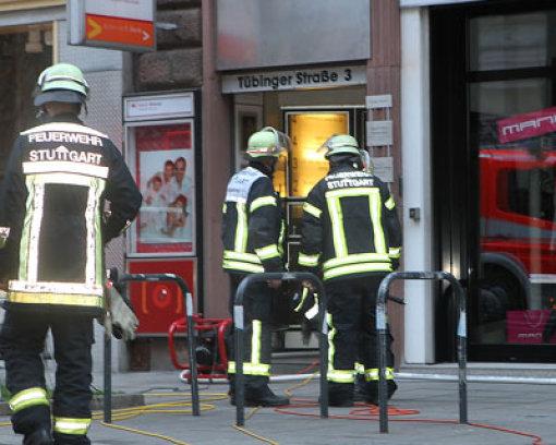 Brand in Geschäftshaus