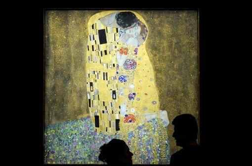 """Das wohl bekannteste Werk von Gustav Klimt: """"Der Kuss"""" – ein anderes, verschollenes Werk ist nun wieder aufgetaucht – der Name: """"Zwei Liegende"""". Foto: APA"""