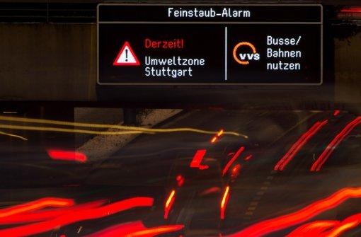 In Stuttgart herrscht bereits wieder Feinstaubalarm. Foto: dpa