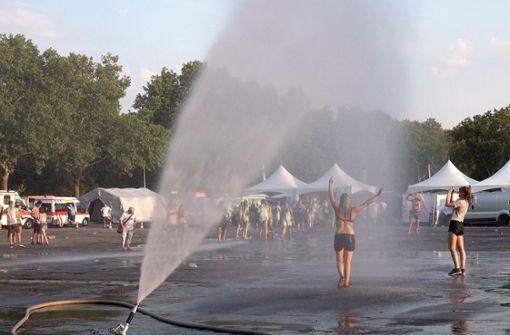 Viele Besucher wegen Hitze-Problemen behandelt