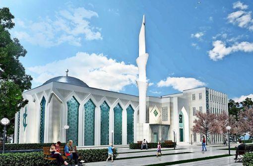 So soll die Moschee in Kornwestheim einmal aussehen. Foto: