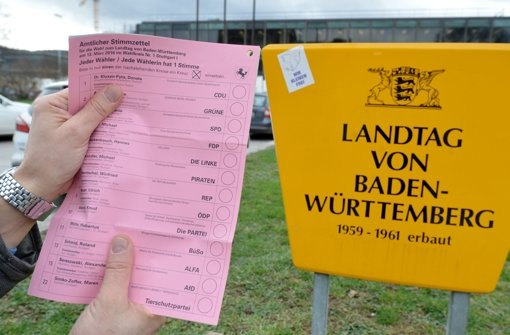 Am 13. März wählen die Bürger im Südwesten den neuen Landtag. Foto: dpa