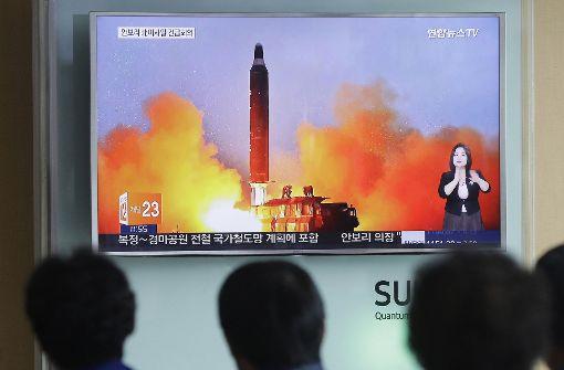 Nordkorea feuert ballistische Raketen ab