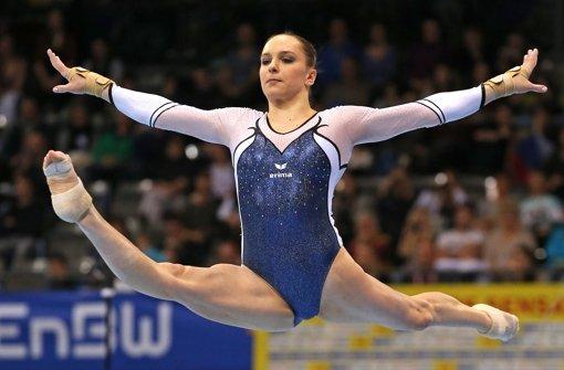 Sophie Scheder hat am Samstag für den ersten Sieg einer Deutschen in der 2011 etablierten Weltcupserie der Turnerinnen gesorgt. Foto: Pressefoto Baumann