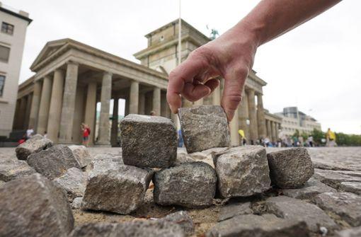 Kampf um die Mauer in Berlin