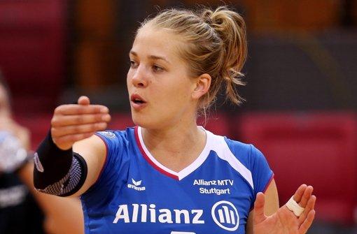 Sagt, wo es langgeht: Stuttgarts neue Zuspielerin Femke Stoltenborg Foto: Baumann