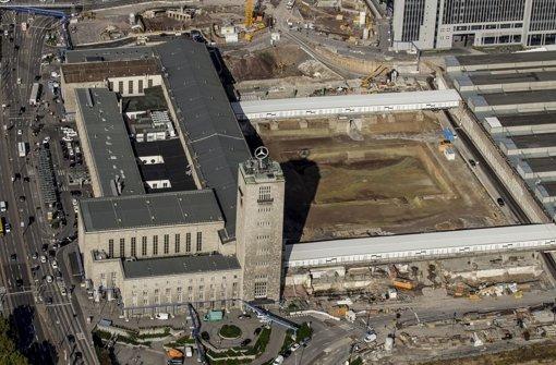 Wird aus Sicht der Gegner noch zehn Jahre Baustelle bleiben: Baufeld für den neuen Hauptbahnhof Foto: Lichtgut/Leif Piechowski