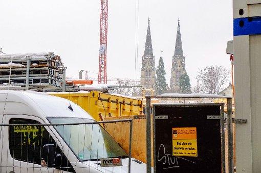 Baustellen an der Tübinger Straße