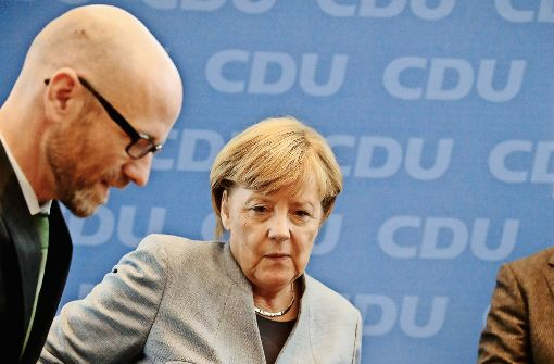 Angela Merkel prüft sich selbst