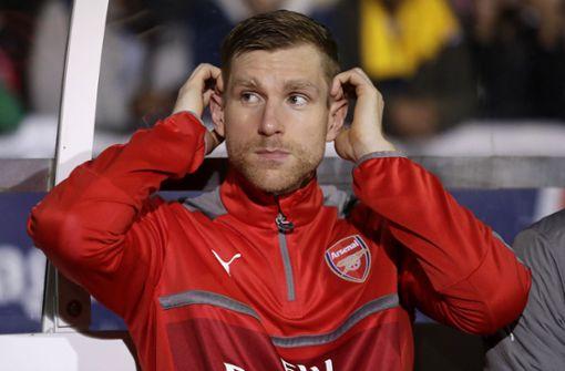 Fußballprofi Per Mertesacker, Arsenal London: Bis zur totalen Erschöpfung. Foto: AP