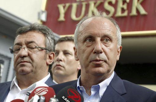 Präsidentschaftskandidat Ince erkennt Erdogan-Sieg an