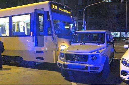 Stadtbahnunfall in der König-Karl-Straße verursacht hohen Sachschaden