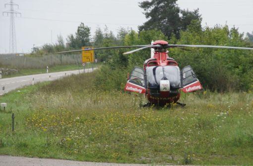 Ein Rettungshubschrauber war im Einsatz. Foto: SDMG