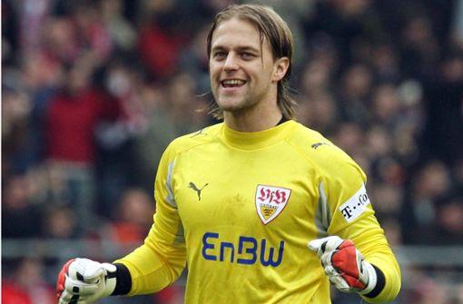 Im Tor der VfB-Jubiläumself steht Timo Hildebrand, der Meistertorwart von 2007 (3472 Stimmen). Foto: dpa