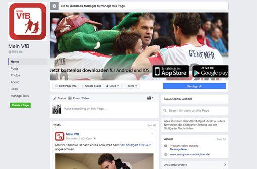 Unser neuer Facebook-Service zum VfB Stuttgart