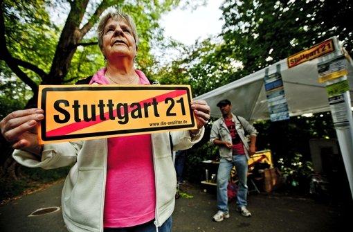 S-21-Gegner wollen im Park weiter protestieren