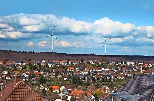 Windräder am Horizont gefallen nicht jedem Foto: Stadtwerke Stuttgart